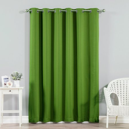 Best Home Fashion Wide Width Grommet Blackout Single Curtain