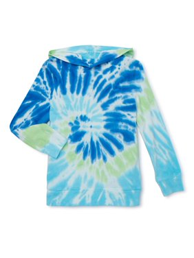 Wonder Nation Long Sleeve Tie Dye Hoodie (Little Boys, Big Boys, Husky)