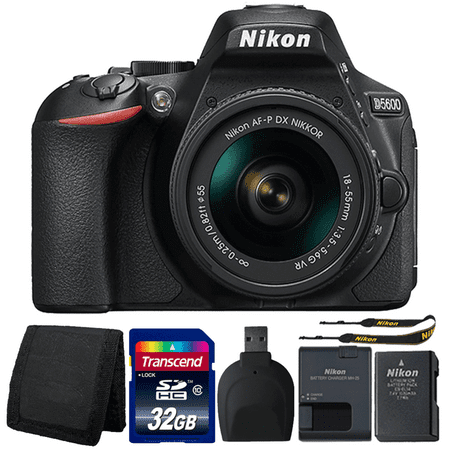 Nikon D5600 24.2MP Digital SLR Camera with 18-55mm Lens and Accessory Bundle ()