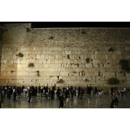 - LAMINATED POSTER Jerusalem Wall Stone Old Ancient Israel Prayer Poster Print 24 x 36