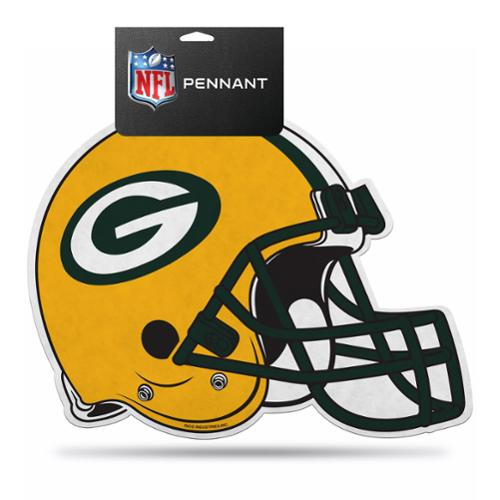 Green Bay Packers Official NFL 15 inch x 12 inch  Helmet Die Cut Pennant by Rico Industries