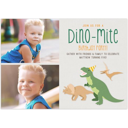 Dino Mite Party Birthday Young Boy Invitation