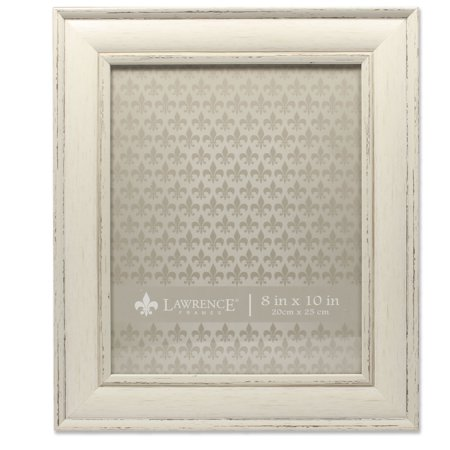8x10 Weathered Ivory Picture Frame - Domed