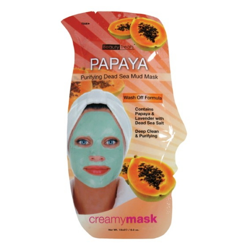 (6 Pack) BEAUTY TREATS Papaya Purifying Dead Sea Mud Mask - Papaya