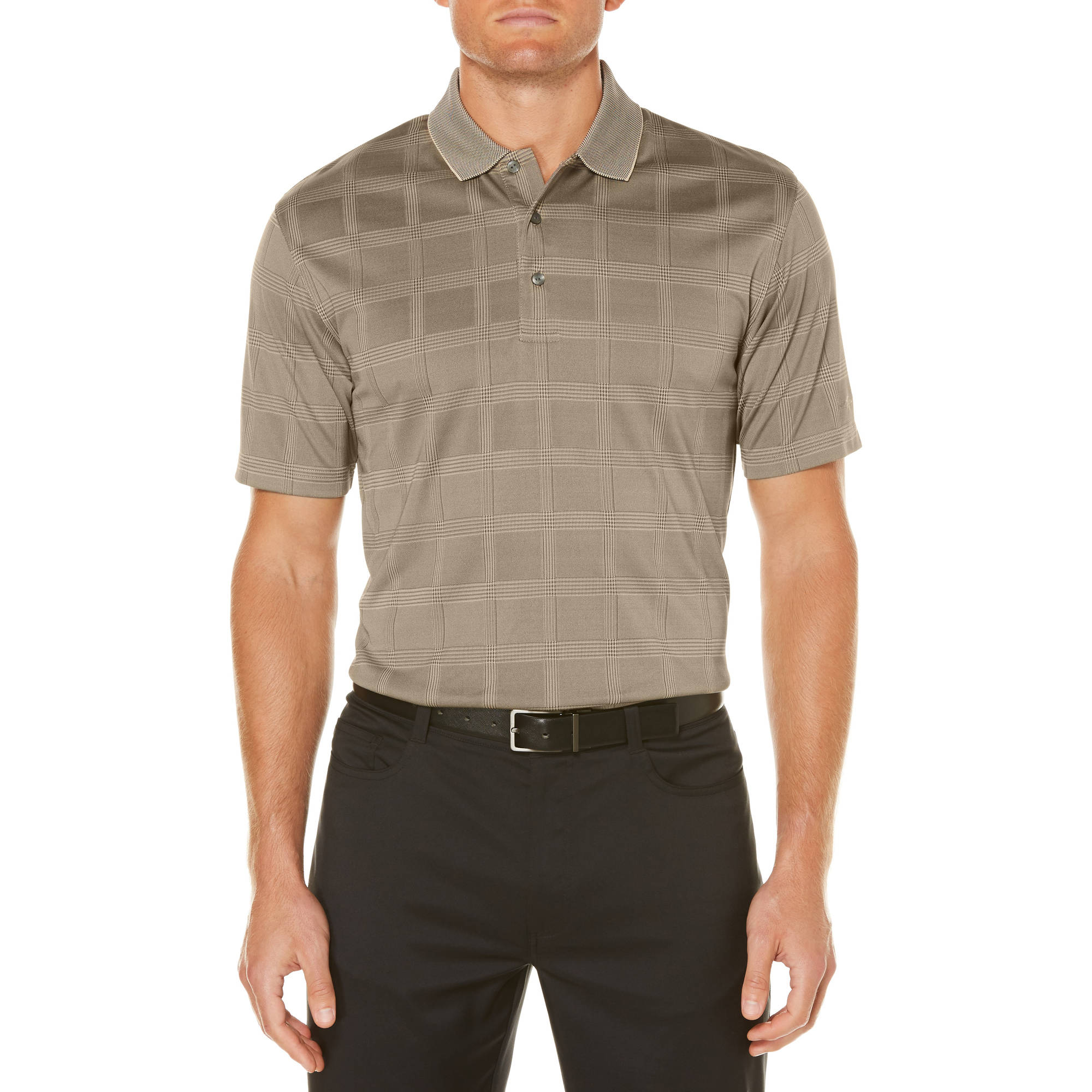 Men's Performance Short Sleeve Textured Polo Shirt, up to 5XL