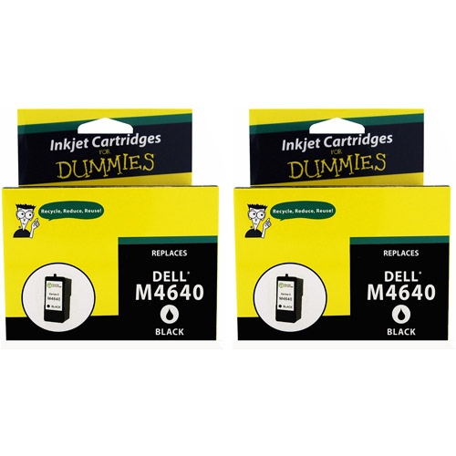 For Dummies Remanufactured Dell M4640 Black Inkjet Cartridge 5 series, 2pk