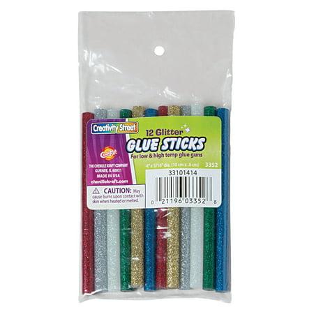 Creativity Street® Hot Glitter Glue Sticks, 4