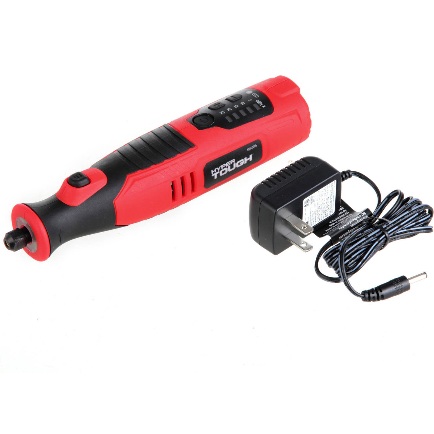 Hyper Tough AQ85000G 8-Volt Lithium-Ion Rotary Tool with 40 Accessories
