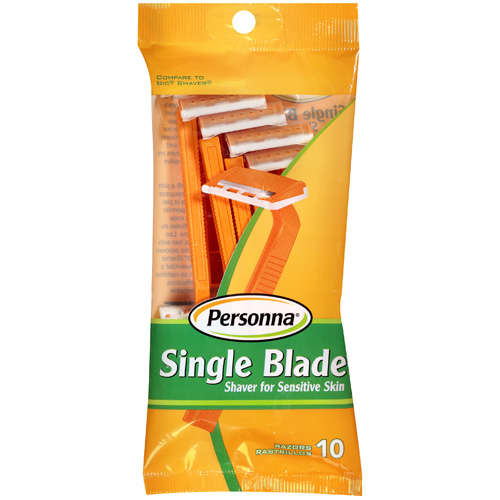 Personna: Single Blade Shaver For Sensitive Skin Razors, 10 Ct