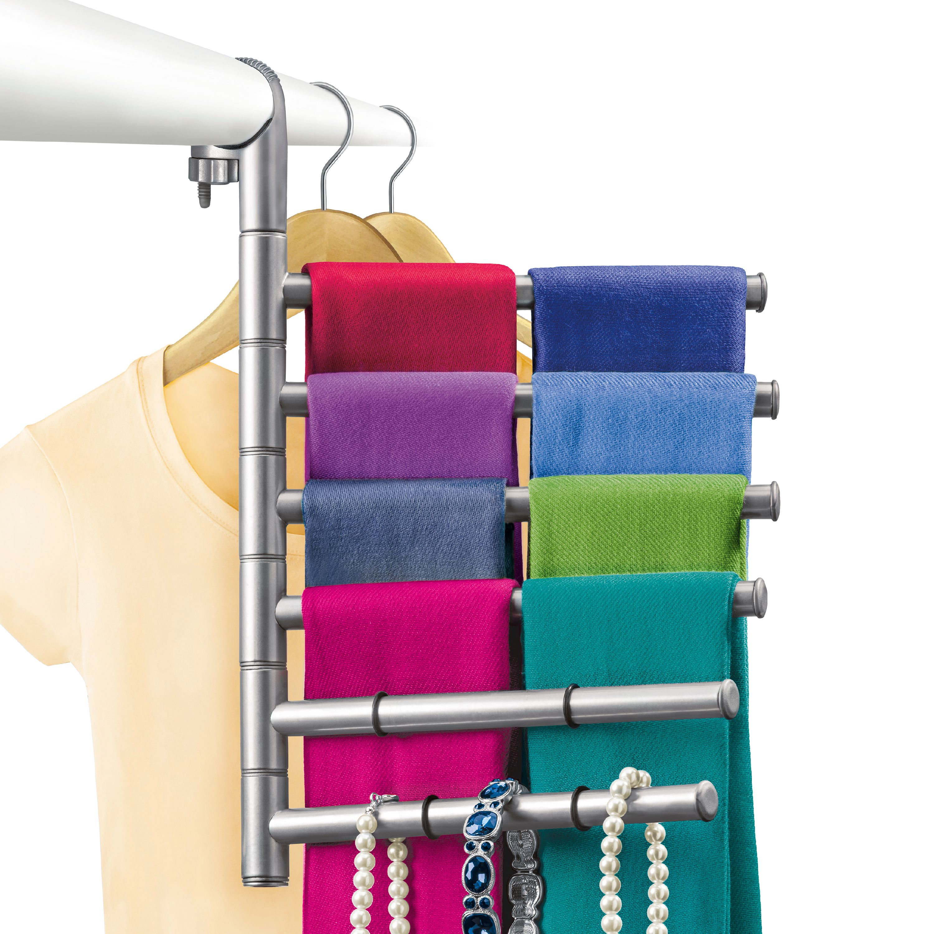 Lynk Hanging Pivoting Scarf Rack and Accessory Holder, Closet Hanger Organizer Rack,... by Lynk
