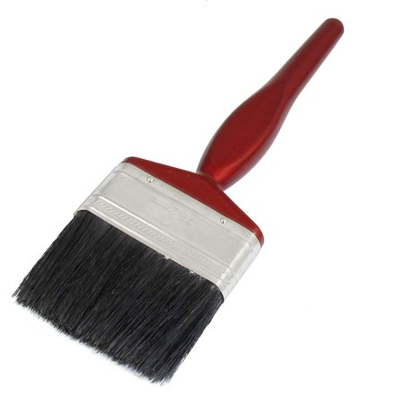 Black Bristle Paint Brush (Unique Bargains Unique Bargains Burgundy Wooden Grip Handle Black Bristle Wall Paint Varnish Brush 3