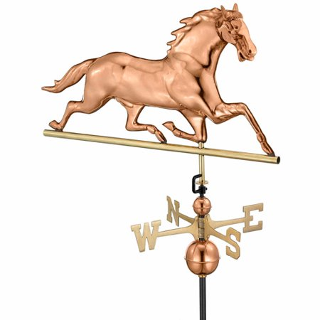 Good Directions Horse Weathervane, Pure Copper -