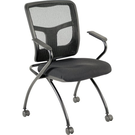 Lorell Mesh Back Fabric Seat Nesting Chairs