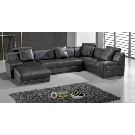 Houston 3-Pc Sectional Sofa Set (Black) - Walmart.com