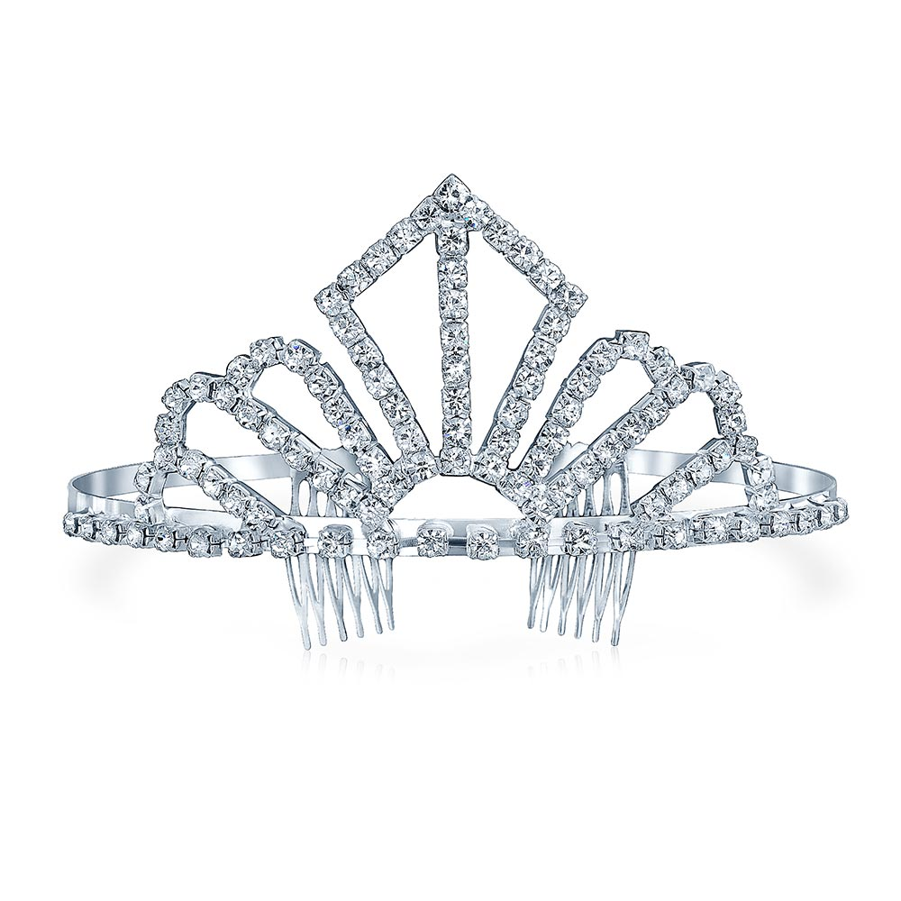 Tiara For Wedding Crystal Princess Headband Headpiece Crown Hair Accessories For Bride Party Prom Pageant Birthday