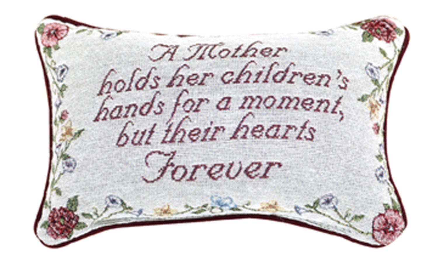 "A Mother's Love Floral Rectangular Throw Pillow 8.5"" x 12.5"" by Manual Weavers"