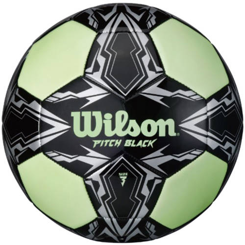 Wilson Pitch Black Glow in the Dark Soccer Ball, Size 3