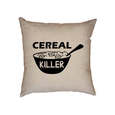Cereal Killers (Cereal Killer - Hilarious Play on Words Breakfast Graphic Decorative Linen Throw Cushion Pillow Case with)