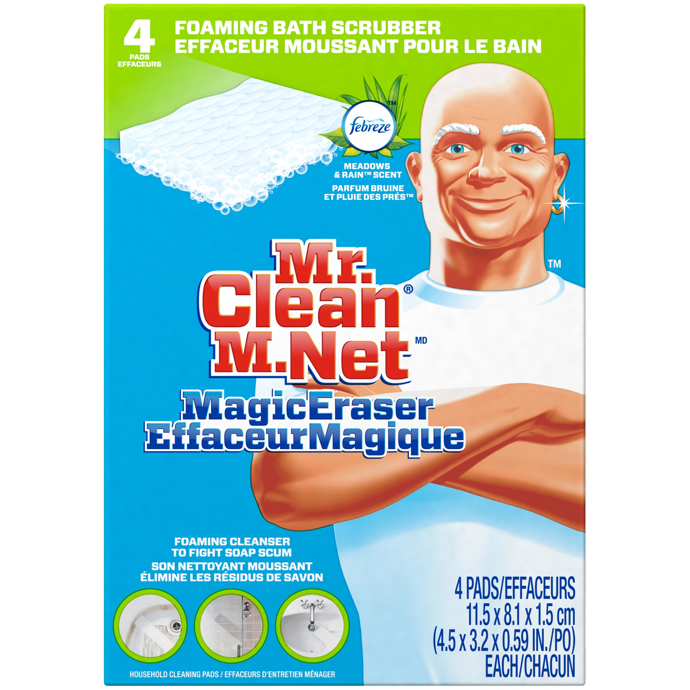 Mr. Clean Magic Eraser Bathtub Cleaner & Scrubber Sponge, 4ct.