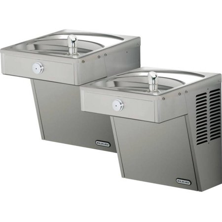 Bi Level Filter - Elkay LVRCTLDDSC Filtered Vandal-Resistant Wall Mount Bi-Level ADA Cooler