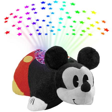 Pillow Pets Disney Retro Mickey Mouse Sleeptime Lites - Retro Mickey Mouse Plush Night Light