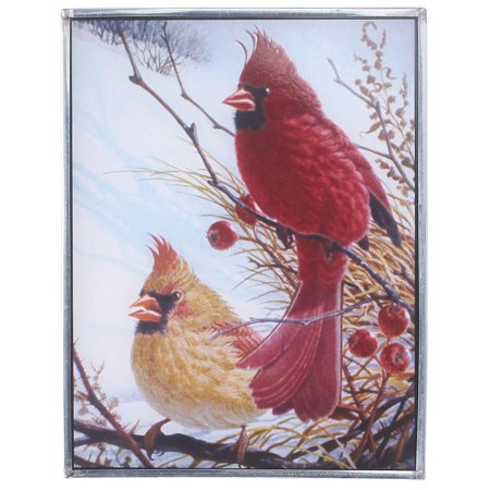 Louis Cardinals Stl Pendant (Design Toscano Windy Cardinal Birds Art Glass )