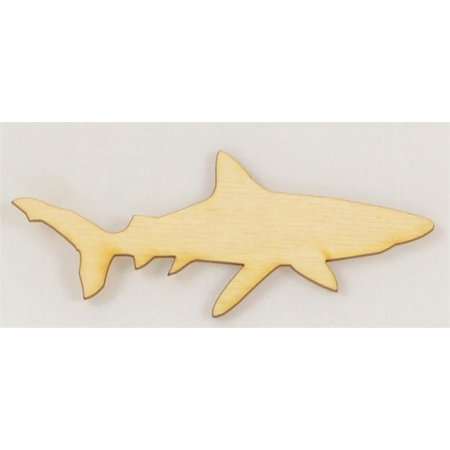 Package Of 10, Shark Wood Cutout 4