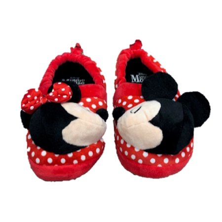de024ec17ae21 Minnie Mouse Disney Girls Mickey Mouse Slide Slippers (5-6)