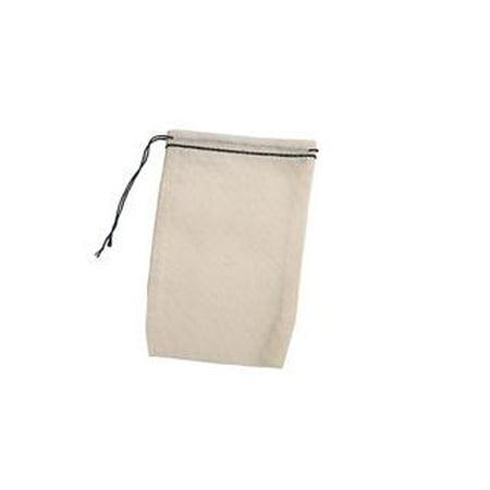 Cotton Muslin Bags w/ Black Drawstring, Pack of 25, 2.75 x 4.75 inches Cotton Muslin Drawstring Bags