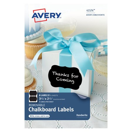 Avery 4x6 chalkboard rectangle 2up 4 sheet walmartcom for Avery 4x6 labels