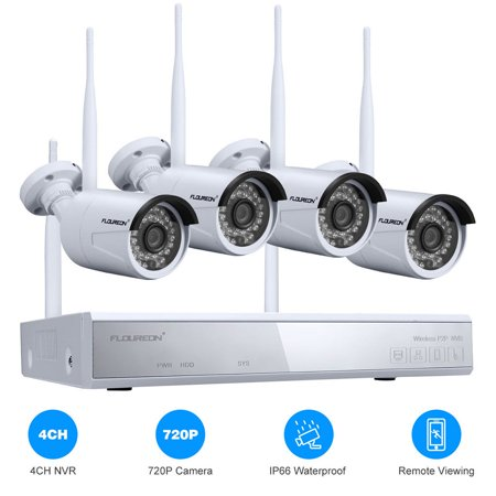 4CH Wireless CCTV 1080P DVR Kit Outdoor Wifi WLAN 720P IP Camera Security Video Recorder NVR System US Dvr Observation System