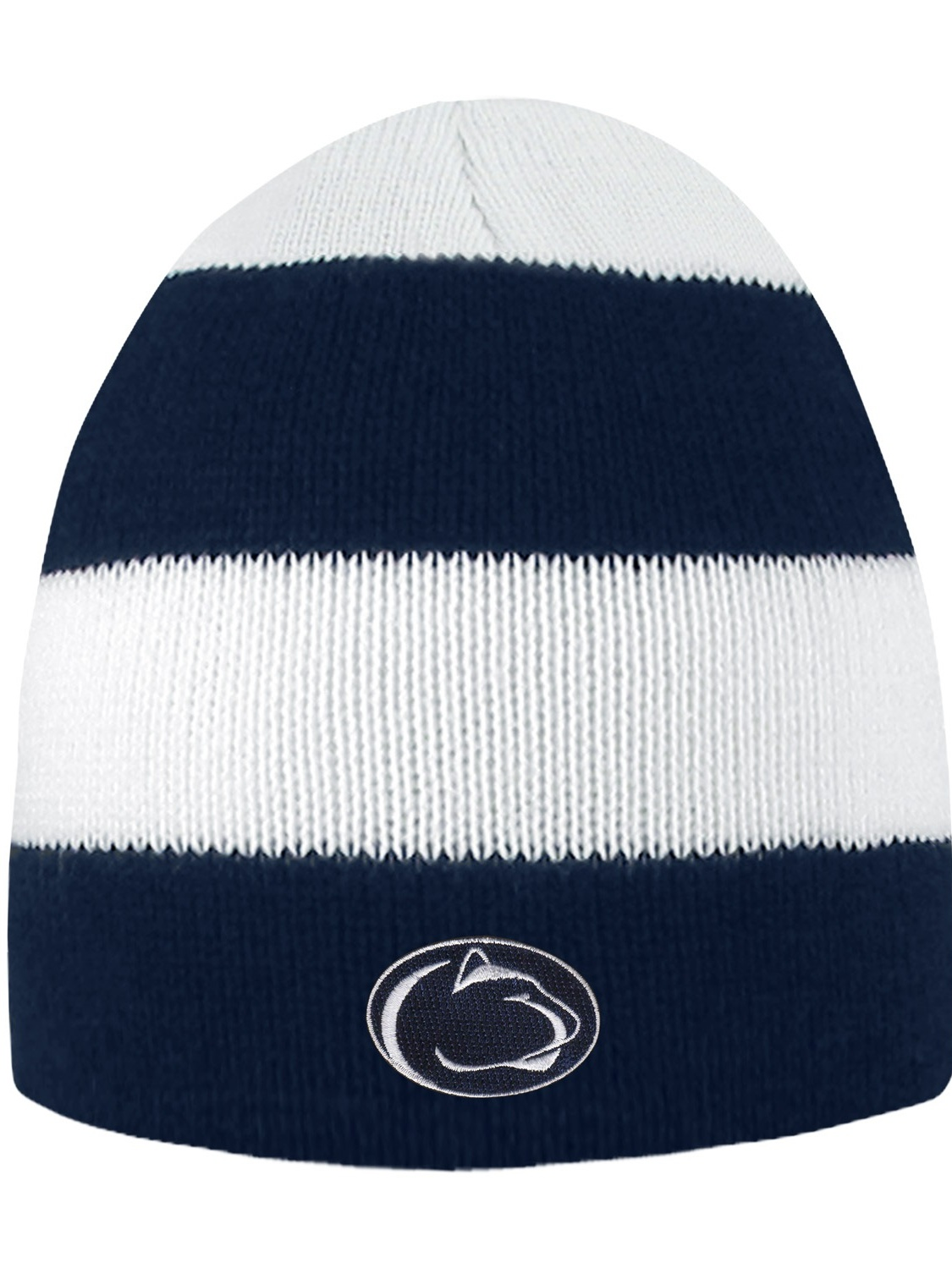 Penn State University Rugby Striped Knit Beanie by