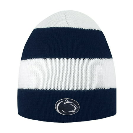 Penn State University Rugby Striped Knit Beanie