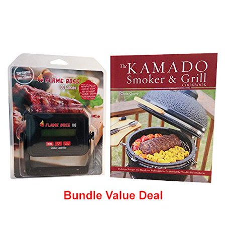 Flame Boss 100 Kamado Grill   Smoker Temperature Controller With Free Kamado Smoker And Grill Cookbook