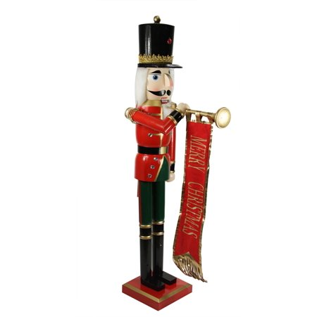 Northlight 36 in. Nutcracker Soldier with Banner