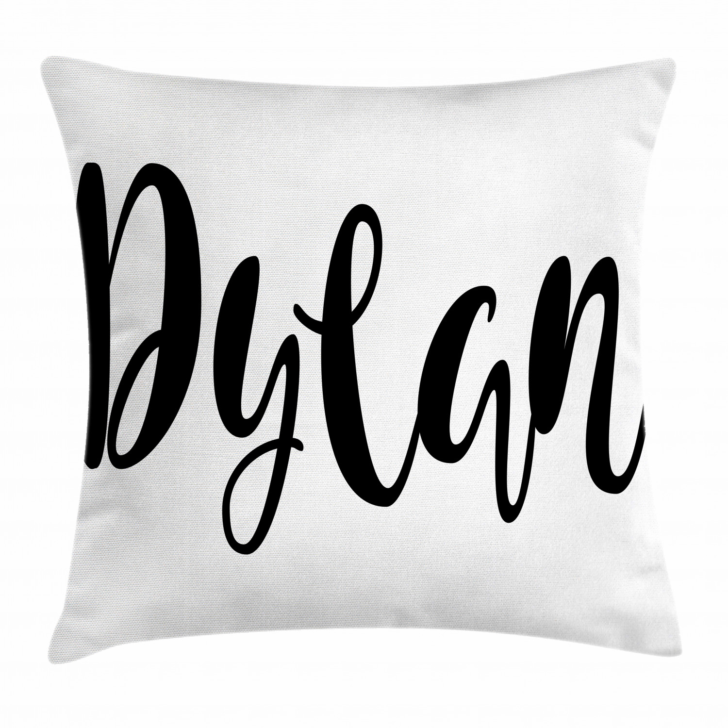 Dylan Throw Pillow Cushion Cover Monochrome Arrangement Of Letters Stylized Font Design Hand Drawn Typography Decorative Square Accent Pillow Case 18 X 18 Inches Black And White By Ambesonne Walmart Com Walmart Com