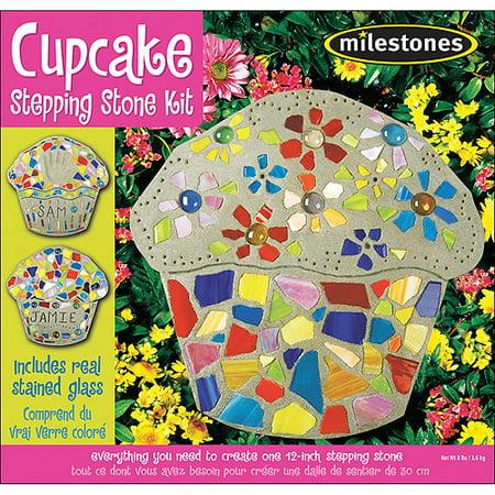 Milestones Cupcake Stepping-Stone Kit