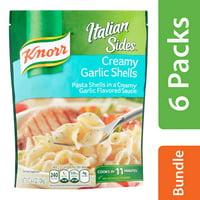 (6 Pack) Knorr Italian Sides Creamy Garlic Shells Pasta Side Dish, 4.4 oz