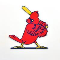 "St. Louis Cardinals Slugger Bird 12"" Steel Sign - No Size"