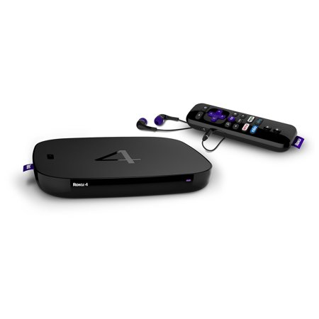 Roku 4 Streaming Media Player 4K Ultra HD and HD TVs (4400R)