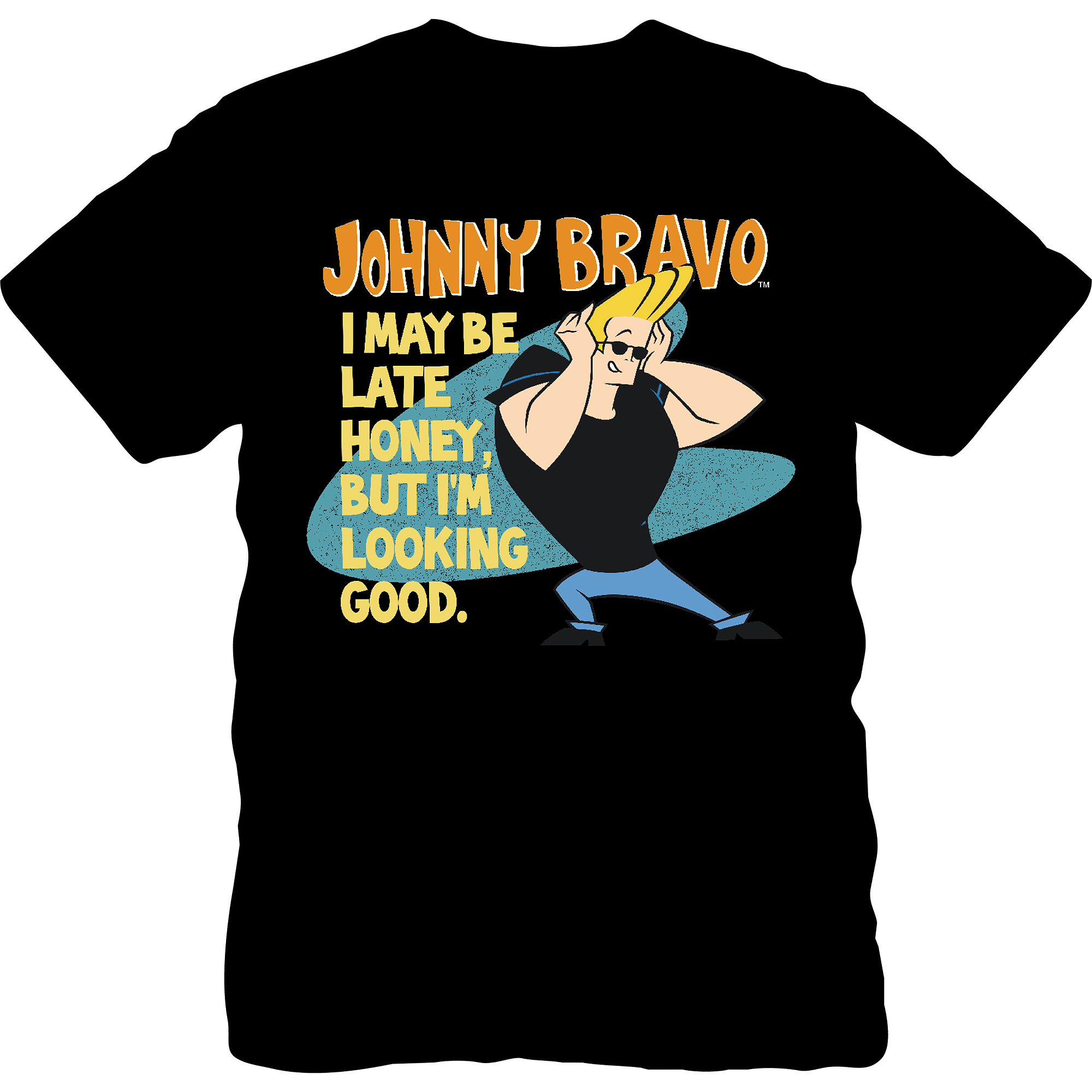 "License Johnny Bravo ""i May Be Late Honey"" Men's"