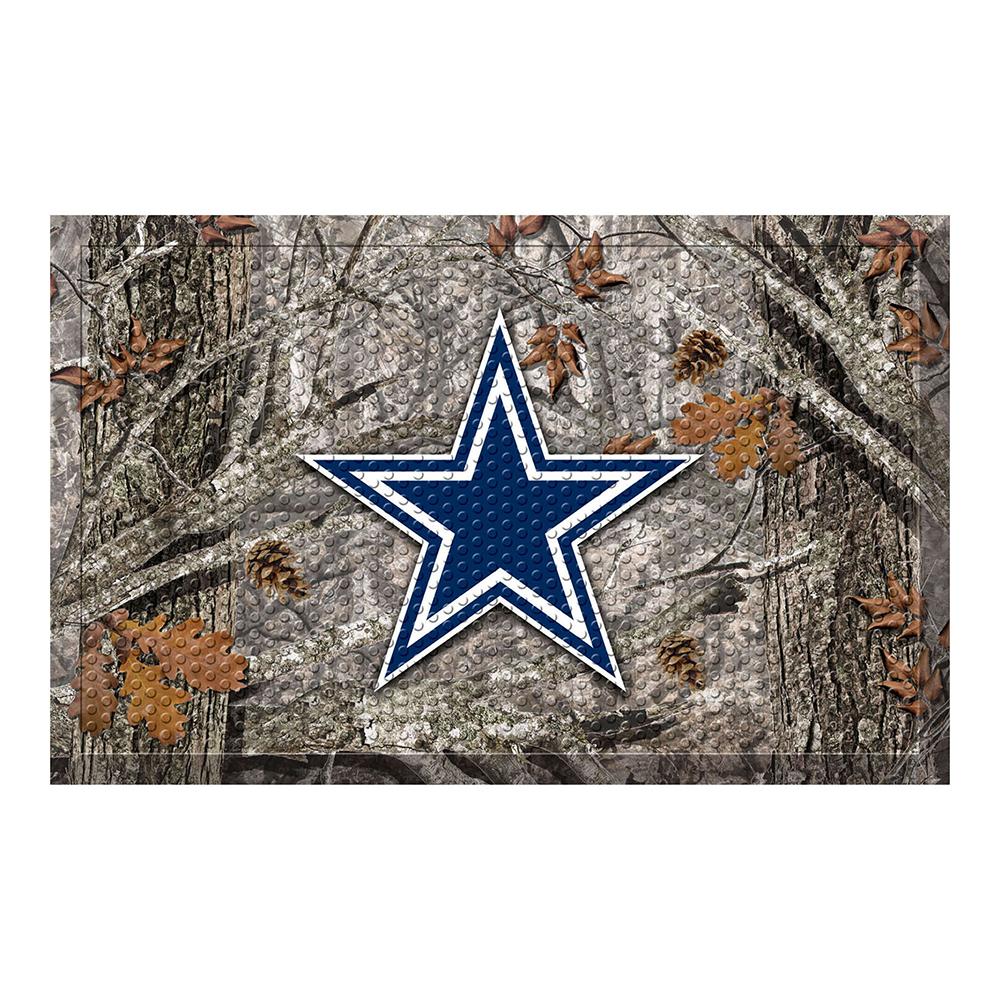 """NFL - Dallas Cowboys Scraper Mat 19""""x30"""" - Camo"""