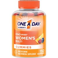 One A Day Women's VitaCraves Multivitamin Gummies, Supplement with Vitamins A, C, E, B6, B12, Calcium, and Vitamin D, 150 ct.