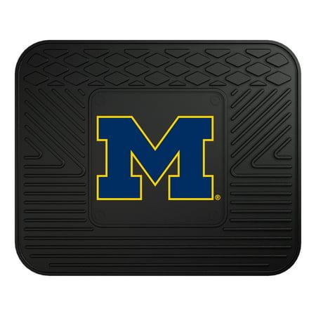10091 Fanmats College NCAA University of Michigan 14 Inch x 17 Inch heavy-duty vinyl durable rubber 3-D molded team logo Rear Car Utility Mat Fanmats Team Tiles