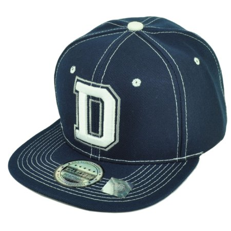 Dallas Texas City 3D Initial D Logo Snapback Flat Bill Brim Hat Cap White (Texas City Outlets Stores)