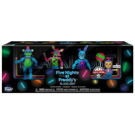 Funko Five Nights at Freddy's Blacklight Freddy, Foxy, Springtrap & Balloon Boy Mini Figure 4-Pack