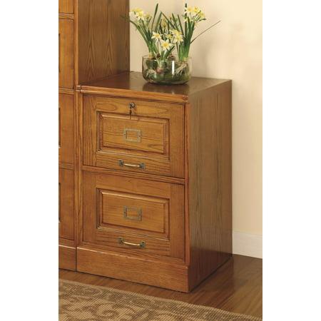 Paulina Oak File Cabinet w/ 2 Drawers File Oak Veneer