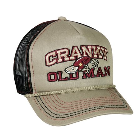 Cranky old man fishing mesh hat misc for Fishing hats walmart