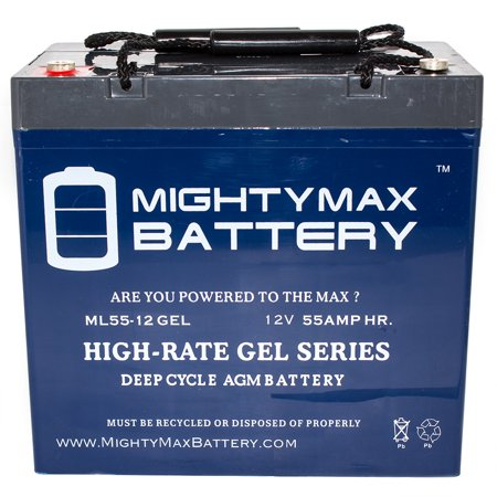 12v 55ah gel battery for power boat pontoon electric for Marine trolling motor batteries