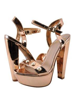 b0b0ca1e3f50b6 Product Image Delicious Cornelia Womens Pearl Embellished Open Toe Heel